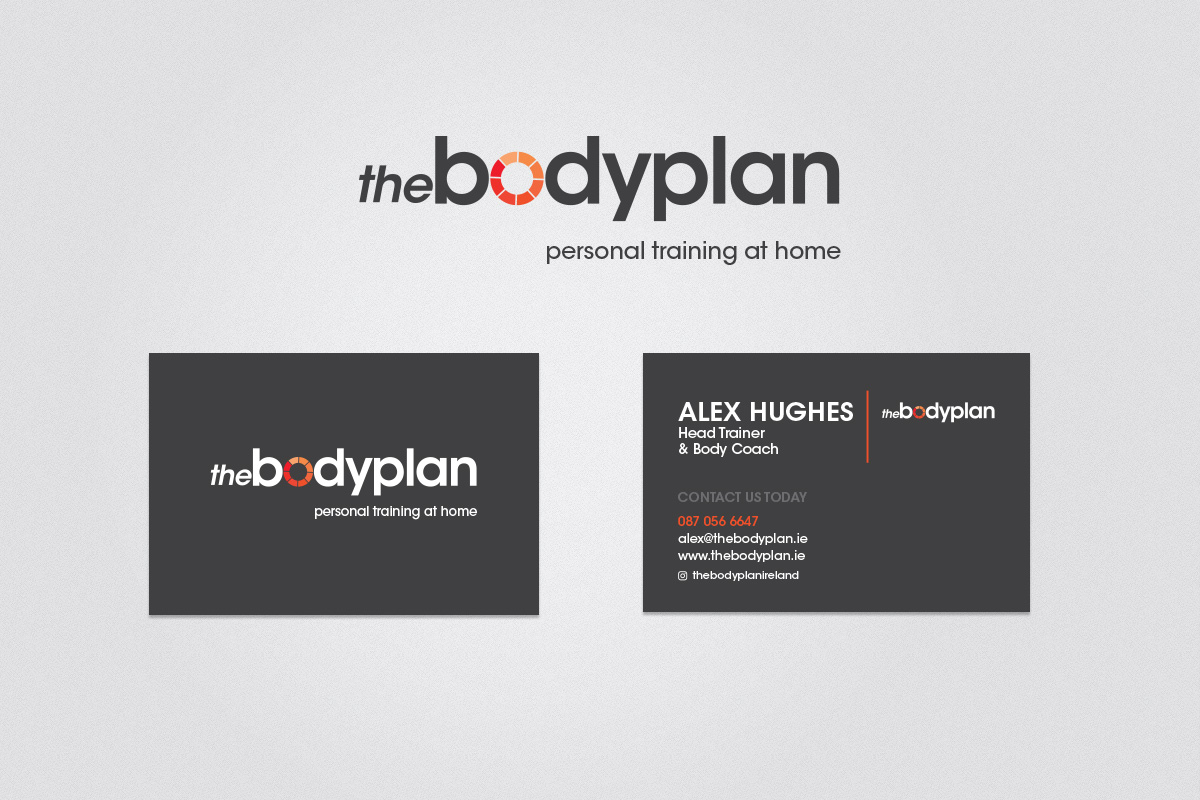 Business card design for the Bodyplan