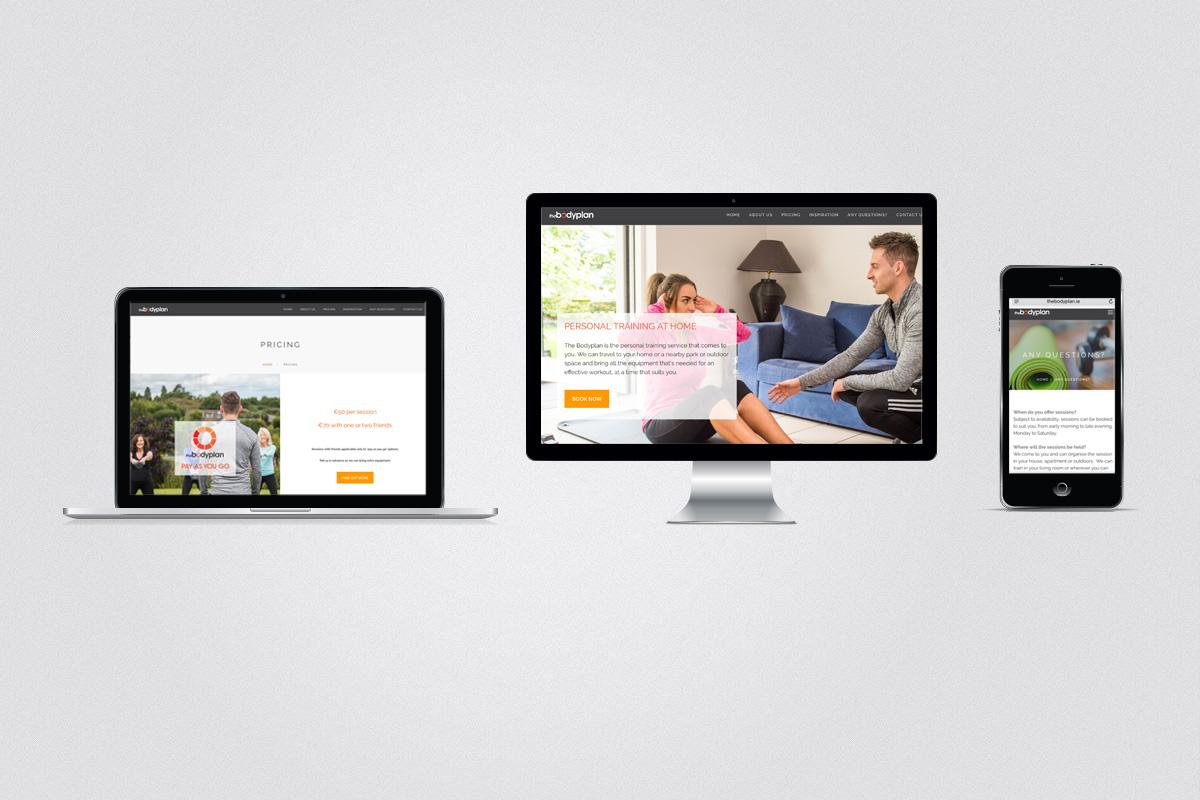 Website design for the Bodyplan