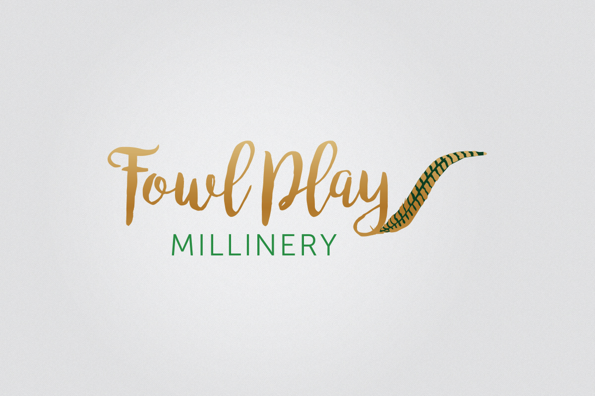 Logo design for Fowl Play Millinery