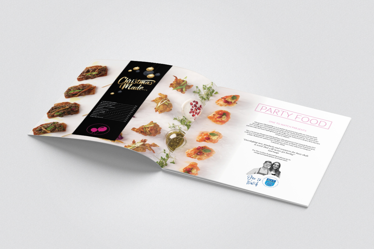 Party Food design for Christmas Brochure