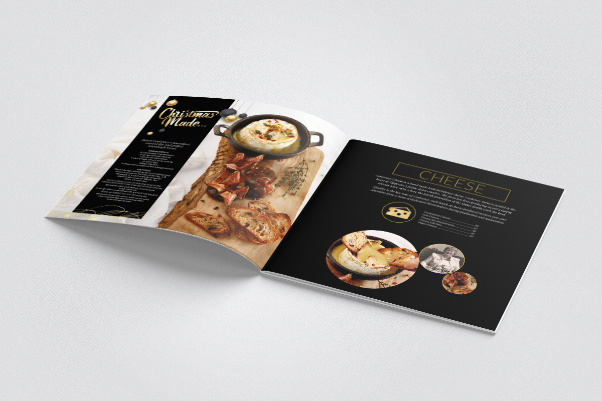 Inside brochure design for Cheese section
