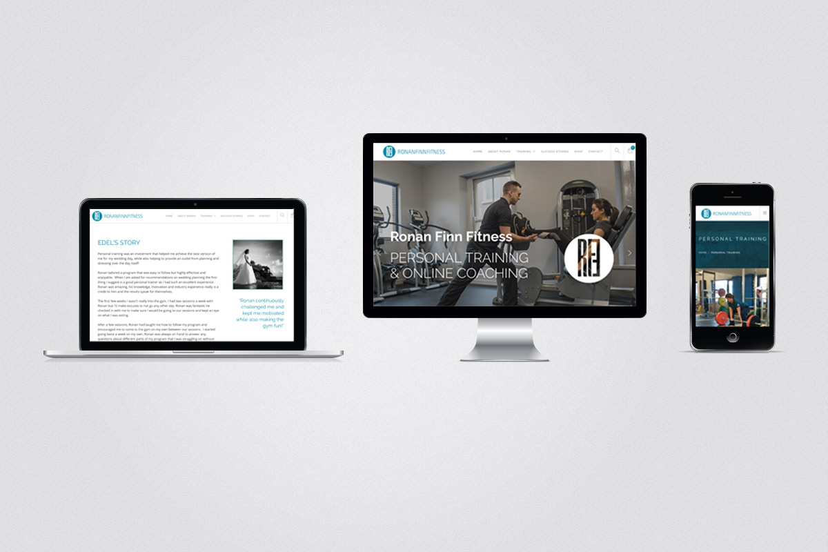 Website design for Ronan Finn Fitness