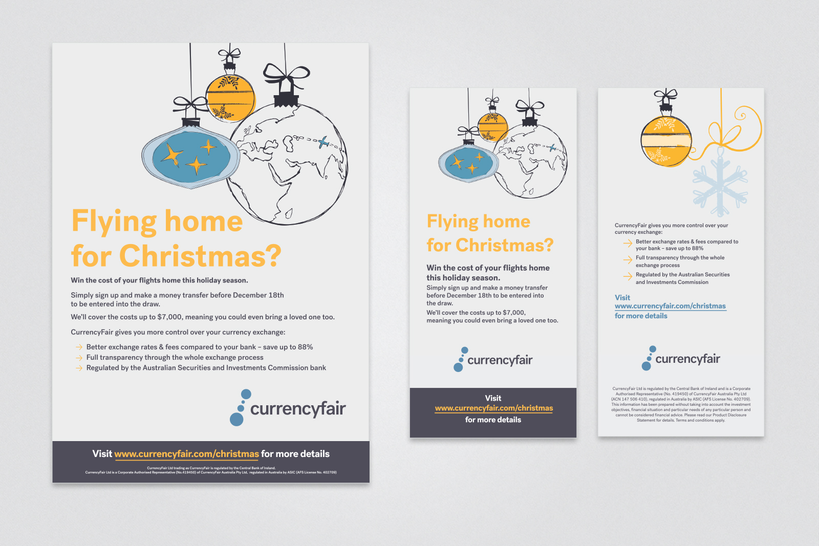 Design for Currency Fair Christmas campaign