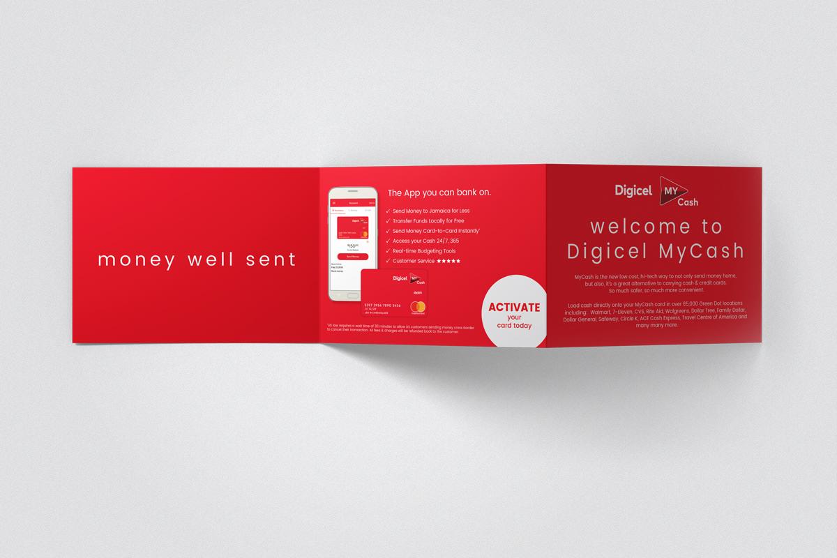 Digicel My Cash card holder design