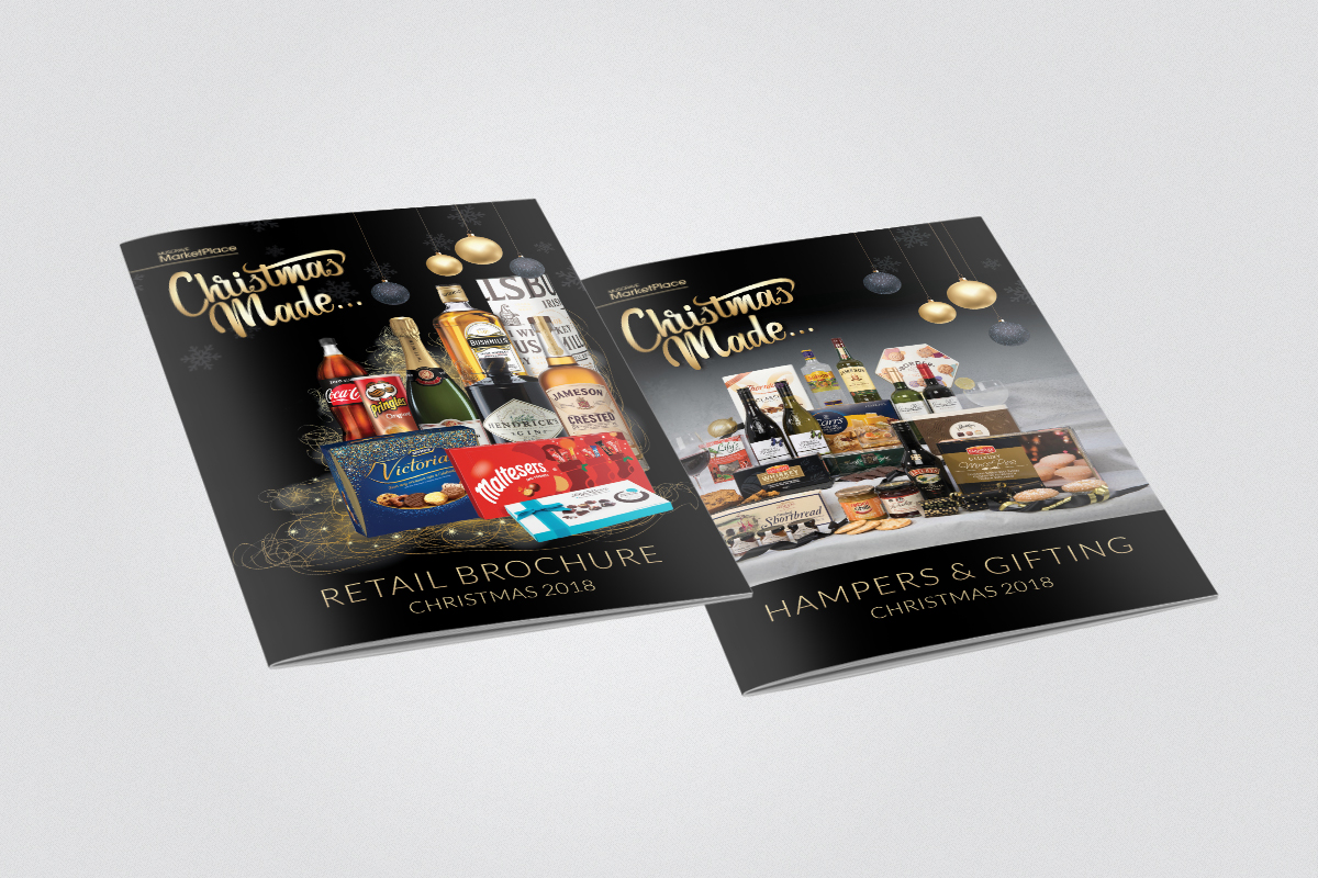 Front Cover designs for retail and hampers brochures